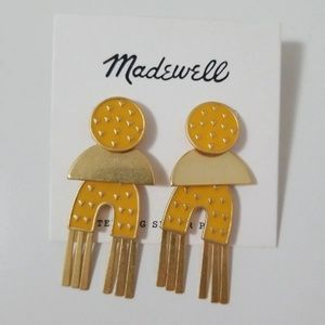 Nwt Madewell Geo Enamel Earrings